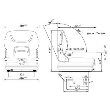 Tecthrone Serisi Mini Forklift Koltuk - Esnemeli, Süspansiyonlu