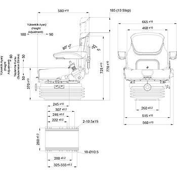 Agromact Mekanik Serisi Traktör Koltuk