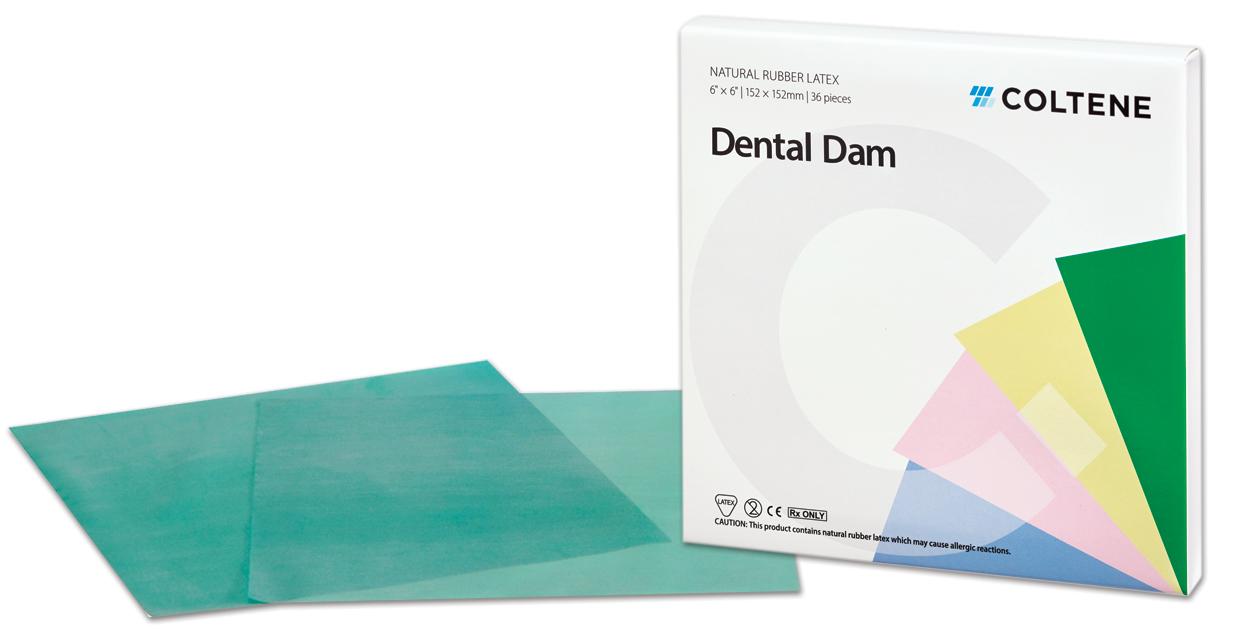 Coltene Hygenic Dental Dam Latex Rubberdam Lastiği Yeşil