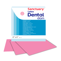 Sanctuary Dental Dam Rubberdam Lastigi Pembe Medium