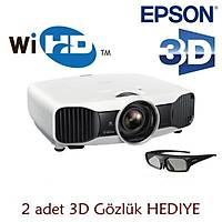 Epson EH-TW9200W 2400 Ansi Lumen 600.000:1 kontrast Full HD 3D LCD KABLOSUZ Ev Sineması Projeksiyonu
