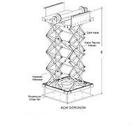 Projeksiyon lifti - Asansörlü taþýyýcý