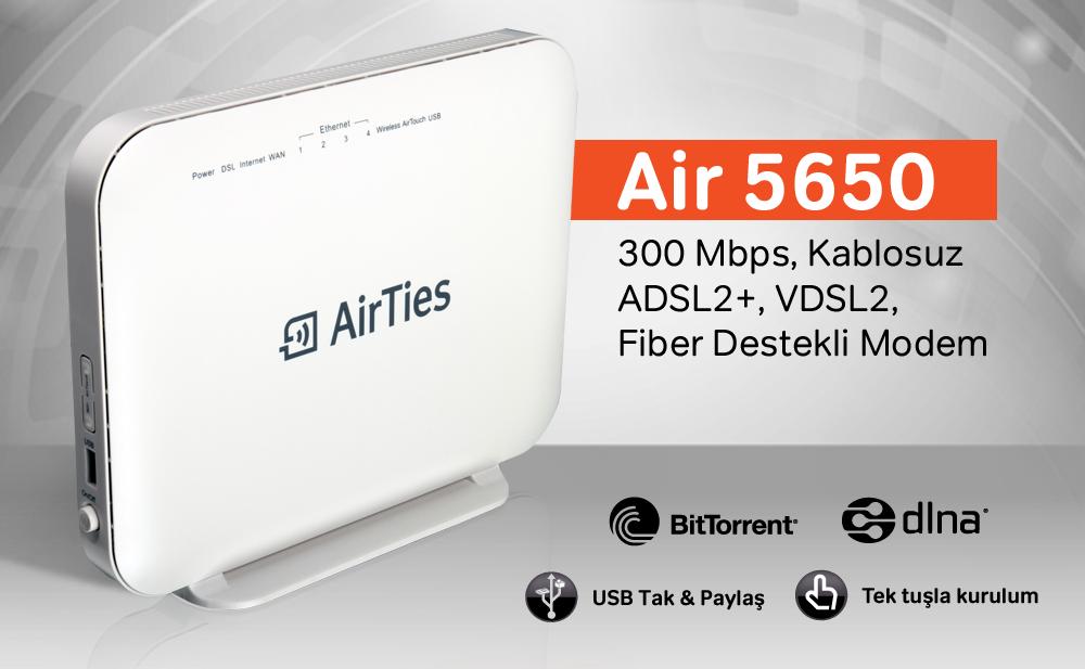 ARTES AR 5650 4 PORT KABLOSUZ VDSL2 MODEM modemci com