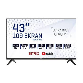 SABA SB43F250 109 Ekran Frameless Full HD Android Smart Led Tv