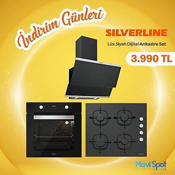 Silverline Ankastre Set Siyah Renk Cam Dijital Ekran