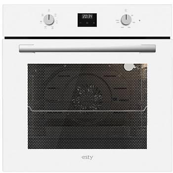 Esty Ankastre Set Beyaz Renk Cam Dijital Ekran