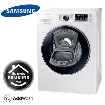 Samsung WW80K5410UW A+++ 8 Kg 1400 Devir AddWash Çamaşır Makinesi