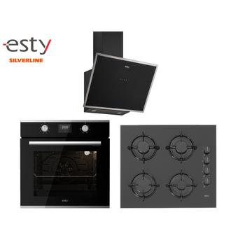 Esty Ankastre Set Siyah Renk Cam Dijital Ekran ( AEF6605B01 - ACO5360B01 - 3473 )