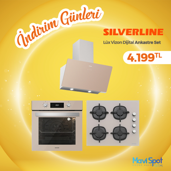 Silverline Ankastre Set Vizon Renk Cam Dijital Ekran