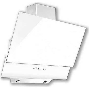 Luxell DA6 835 Ankastre Davlumbaz Cam Beyaz Renk