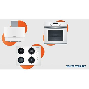 Profilo White Star Ankastre Set Beyaz