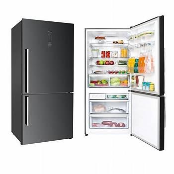 Silverline R12028B01 525 Lt. A+ Kombi No-Frost Siyah Buzdolabı