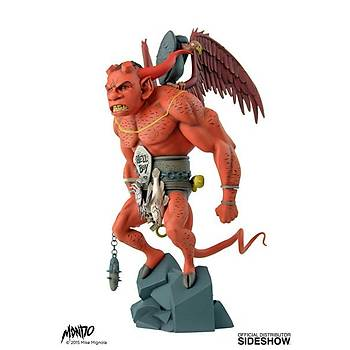 The First Hellboy Statue