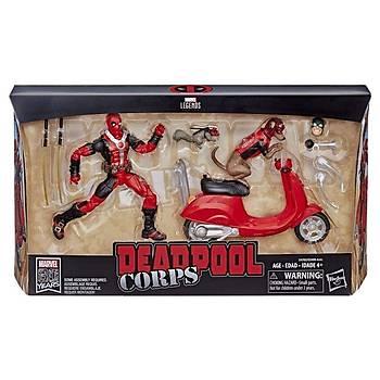 Hasbro Marvel Legends - M'Baku Deadpool On Scooter Wth Dogpool