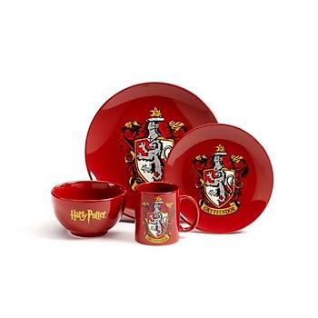 HARRY POTTER 4 PIECE DINNER SET - GRYFFINDOR