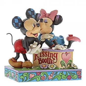 Kissing Booth Mickey Mouse & Minnie Mouse Figurine