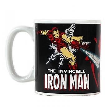 Marvel Iron Man Isýyla Renk Deðiþtiren Kupa Bardak