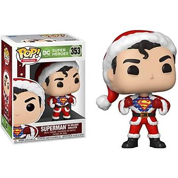 Funko Pop DC Heroes Holiday - Superman with Sweater