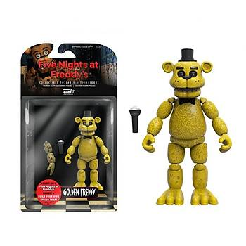 """Action Figure Five Nights At Freddys 5"""" Articulated Gold Freddy"""
