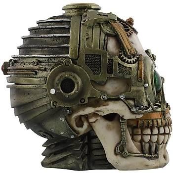 Nemesis Steampunk Skull Candle Holder Mumluk Kutu