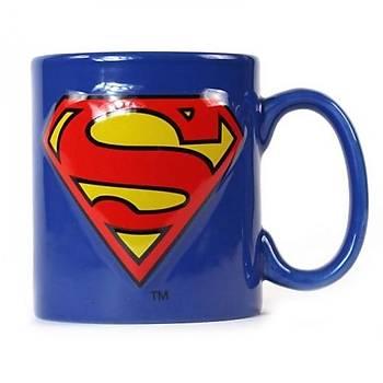 Superman Logo Kabartmalý Kupa Bardak