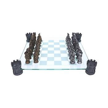 Kingdom Of The Dragon Chess Set 43cm Dekoratif Satranç Takýmý