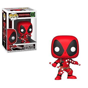 Funko POP Marvel Holiday Deadpool - (With Candy Canes)