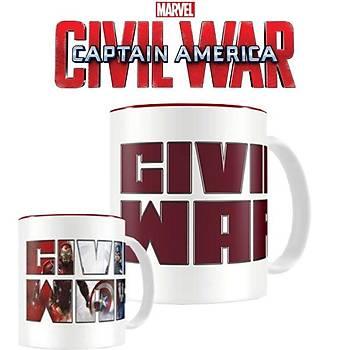 Captain America: Civil War Heat Changing Mug Kupa Bardak