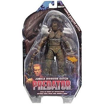 "Predator Series 9 Jungle Disguise Dutch 7"" Action Figure"