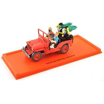 Tintin Comic Collection Jeep Willys MB 1943 including figure