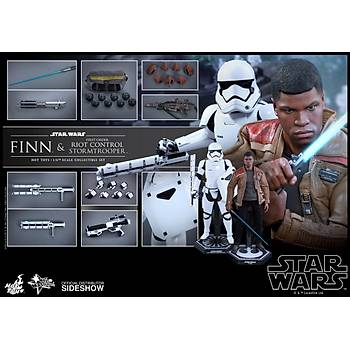 Finn and First Order Riot Control Stormtrooper