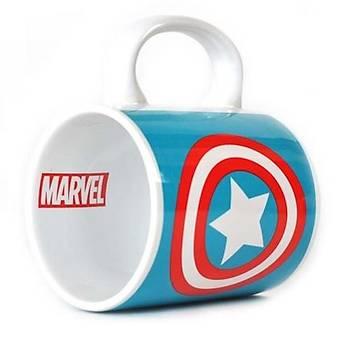 Marvel Captain America Logo Kupa Bardak