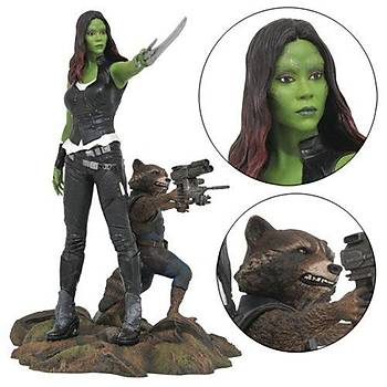 Marvel Gallery Statue- Gamora & Rocket Raccoon Gotg