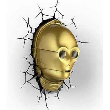3D Light FX Star Wars C-3PO Duvar Lambasý