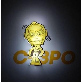 3D Light FX Star Wars C-3PO Mini Duvar Lambasý
