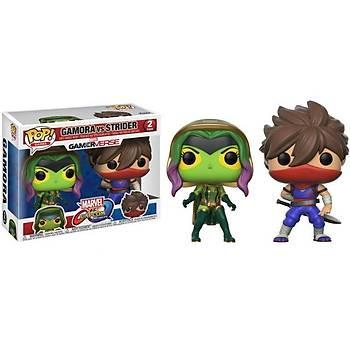 Funko POP 2-Pack Capcom Vs. Marvel Gamora Vs Strider