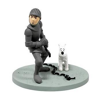Tintin Coffret Scène Plastique Armure Figure