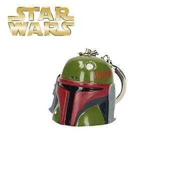 Star Wars Boba Fett 3D Helmet Keychain Anahtarlýk