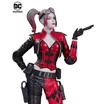 Harley Quinn Red White & Black Statue Injustice 2
