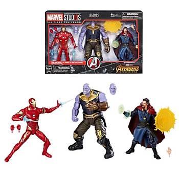 Marvel Legends - 10 Year Anniversary Thanos Iron Man Dr Strange 3 Pack