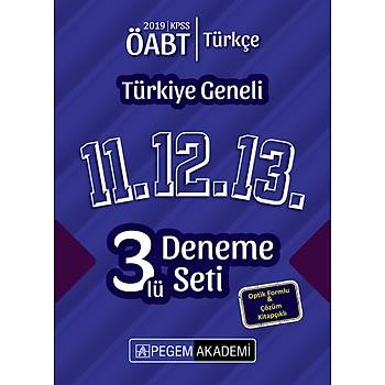 Pegem 2019 ÖABT Türkçe Öðretmenliði Türkiye Geneli 3 Deneme (11.12.13) Pegem Akademi Yayýnlarý