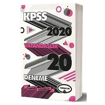 KPSS Genel Kültür Vatandaþlýk Tamamý Çözümlü 20 Deneme Sýnavý Yediiklim Yayýnlarý 2020