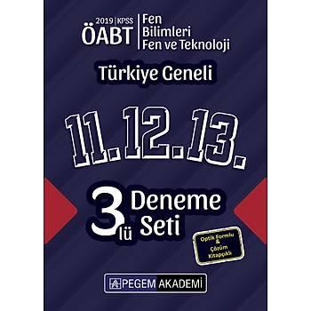 Pegem 2019 ÖABT Fen Bilimleri / Fen ve Teknoloji Öðretmenliði Türkiye Geneli 3 Deneme (11.12.13) Pegem Akademi Yayýnlarý