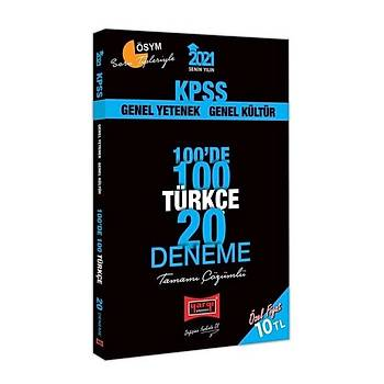 Yargý 2021 KPSS Türkçe 100 de 100 20 Deneme Çözümlü Yargý Yayýnlarý
