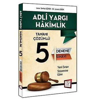 Adli Yargý Hakimliði Tamamý Çözümlü 5 Deneme Sýnavý 657 Yayýnlarý