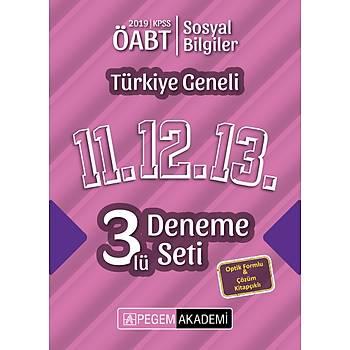Pegem 2019 ÖABT Sosyal Bilgiler Öðretmenliði Türkiye Geneli 3 Deneme (11.12.13) Pegem Akademi Yayýnlarý