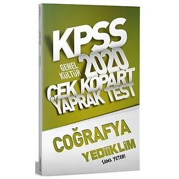 KPSS Coðrafya Çek Kopart Test Yaprak Yediiklim Yayýnlarý 2020