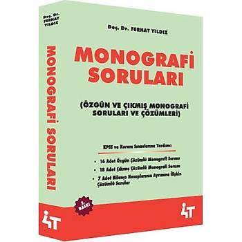 Monografi Sorularý (Özgün ve Çýkmýþ Monografi Sorularý ve çözümleri) Ferhat Yýldýz