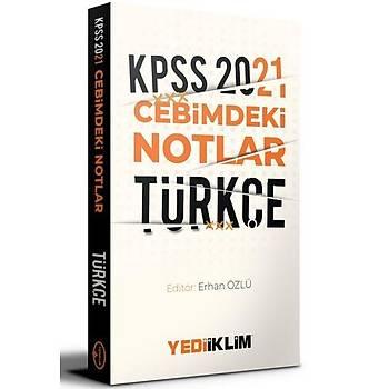 Yediiklim Yayýnlarý 2021 Kpss Cebimdeki Notlar Türkçe