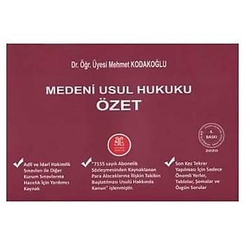 Medeni Usul Hukuku Özet - Mehmet Kodakoðlu Ocak 2020